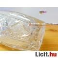 Ezüst karimás metszett kristály váza
