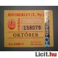 Eladó BKV Havibérlet (T.,Ny.) 2001 Október (Gyűjteménybe) (2képpel :)