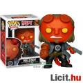 Eladó 10cmes Funko POP figura Hellboy figura with PBRD Tee POP 750 nagyfejű horror film / képregény karika
