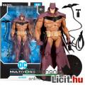 Eladó 18cm-es DC Multiverse Batman figura - White Knight Batman Red Variant fegyverekkel alátehető talppal
