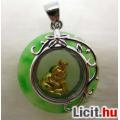 Eladó Különleges zöld jáde zodiákus nyúl medál amulett 18 KGP Vadonatúj!