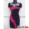 Eladó # TALLY WEIJL Fekete-bordó testhez simuló mini ruha 38-as