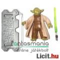 10cm méretkategóriás Star Wars figura - Joda / Yoda Jedi Mester figura zöld fénykarddal és Star Wars