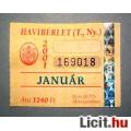 Eladó BKV Havibérlet (T.,Ny.) 2001 Január (Gyűjteménybe) (2képpel :)