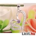 Eladó Álomszép sterling ezüst szív medál strassz díszítéssel