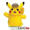 Eladó 35cm-es Pokemon figura - Detective Pikachu interaktív beszélő-mozgó plüss játék baba - Új!