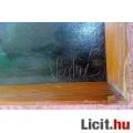 Hálóvetők, alföldi tájkép Véghné szignóval, antik olaj-vászon festmény