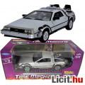 Eladó 1:24 Back To The Future De Lorean autó modell - 17cm hosszú Vissza A Jövőbe DeLorean Time Machine ny
