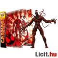 Eladó 18cm-es marvel Select Carnage / Vérontó figura piros venom Pókember ellenség cserélhető fejekkel, ke