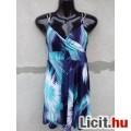 Eladó # TU Spagettipántos S.kék-kék-fehér-fekete rövid ruha kb.38-as