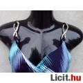 # TU Spagettipántos S.kék-kék-fehér-fekete rövid ruha kb.38-as