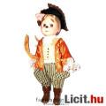 Eladó Porcelán Baba - Csizmás Kandúr jelmezben 16cm-es baba szövet ruhában