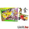 Eladó Tini Nindzsa / Ninja Teknőcök - Party Wagon autó + Raffaello és Shredder figura építő játék szett -