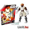Eladó 16cmes Star Wars figura - Plo Koon Jedi Mester játék figura alkarra csatlakoztatható duplapengés fén