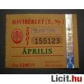 Eladó BKV Havibérlet (T.,Ny.) 2001 Április (Gyűjteménybe) (2képpel :)