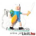Adventure Time / Kalandra Fel 5-6cm mini figura - Finn karddal és pajzzsal és alátehető talapzattal