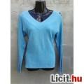 Eladó # Szexi kék ujján nyitott kötött pulóver kb. L-es