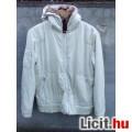 Eladó # SMOG Krémszínű kapucnis műszőrmével bélelt dzseki S méret