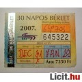 BKV 30 Napos Felnőtt Bérlet 2007 December (Gyűjteménybe) (2képpel :)