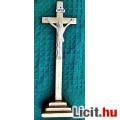 Eladó 18.) Antik, CSONT Jézus Krisztus 8.5 cm,  25 cm-es aranyozott talpas f